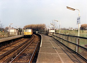Woodlands Road tram stop - Woodlands Road railway station in 1989