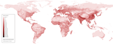 World human population density map.png