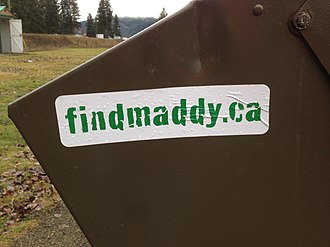 Highway of Tears - Awareness campaign for Madison Scott, missing in 2011 along the Highway of Tears.