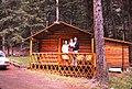 Wyoming - Absaroka Mountain Lodge - Cabin 7 - John, Jessica & my mother - June 1975 (8049511688).jpg