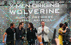 Liev Schreiber - Schreiber (right) and other actors celebrating the world premiere of X-Men Origins: Wolverine in Tempe, Arizona, April 27, 2009