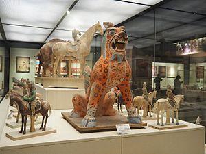 Xinjiang Region Museum - An exhibit at the  Xinjiang Region Museum