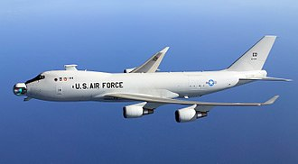 Air Force Research Laboratory - YAL-1 in flight.