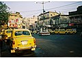 Yellow Ambassador taxicabs, Kolkata.jpg