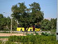 Yellow Bus for an Organization - Road 44 east of Iran - near Simorgh Culture house - Nishapur 1.JPG
