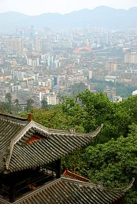 View of Yibin from Cuiping Mountain