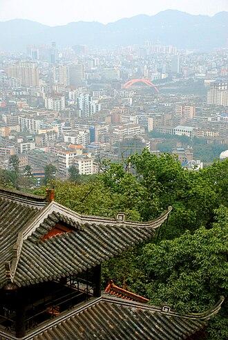 Yibin - View of Yibin from Cuiping Mountain