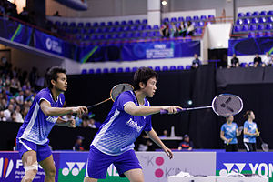 Liliyana Natsir - Lilyana Natsir and Tantowi Ahmad at the 2013 French Open Superseries