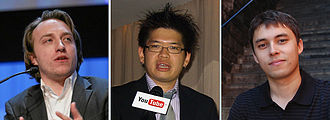 History of YouTube - From left to right: Chad Hurley, Steve Chen, and Jawed Karim.