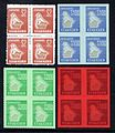 Zimbabwe revenue stamps in blocks of four.jpg