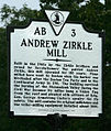Zirkle Mill Historic Highway Marker.jpg