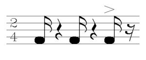 Coladeira - Image: Zouk rhythm