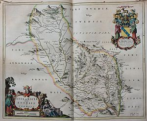 Francis Scott, 2nd Earl of Buccleuch - Arms of Francis, Earl of Buccleuch, on an old map