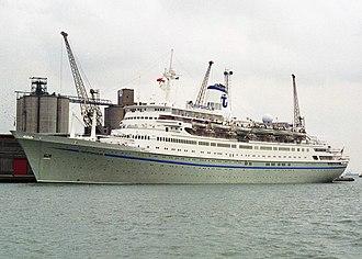 """Transocean Tours - Image: """"Gripsholm"""" Southampton, 1996"""