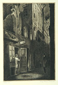 """Rosina"", page 22 from the book ""Der Golem"", illustrated by Hugo Steiner-Prag"