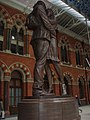 """The meeting place"" sculpture at St Pancras - geograph.org.uk - 622769.jpg"