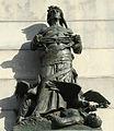 """""""War"""", W. face of Wm. T. Sherman Memorial.jpg"""