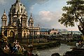 'A Capriccio River Landscape with a Church to the Left' by Bernardo Bellotto.jpg