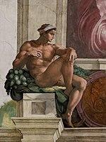 'Ignudo' by Michelangelo JBU33.jpg