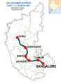 (Hubli - Bangalore) Janshatabdi Express Route map.png