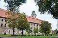 Żary, pałac Promnitzów, widok na wieże zamku.jpg