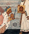 Александр I у иконы Нерукотворного Спасителя, 1812 г.jpg