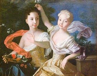 Grand Duchess Anna Petrovna of Russia - Image: Каравакк Портрет царевен Анны Петровны и Елизаветы Петровны