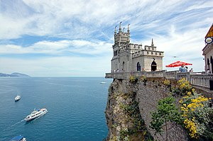 Crimea - Swallow's Nest, built in 1912 for oil millionaire Baron von Steingel, a landmark of Crimea