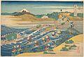 冨嶽三十六景 東海道金谷の不二-Fuji Seen from Kanaya on the Tōkaidō (Tōkaidō Kanaya no Fuji), from the series Thirty-six Views of Mount Fuji (Fugaku sanjūrokkei MET DP141070.jpg