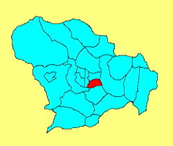 Location in Shijiazhuang City
