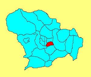 Yuhua District, Shijiazhuang - Image: 裕华区在石家庄市的位置