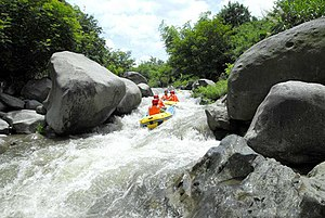 Luotian County - Rafting on the river of Jinshi