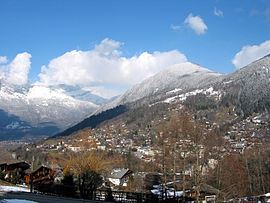 A general view of Saint-Gervais-les-Bains