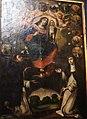 013 Ploudiry Eglise paroissiale autel du rosaire tableau médaillons.JPG