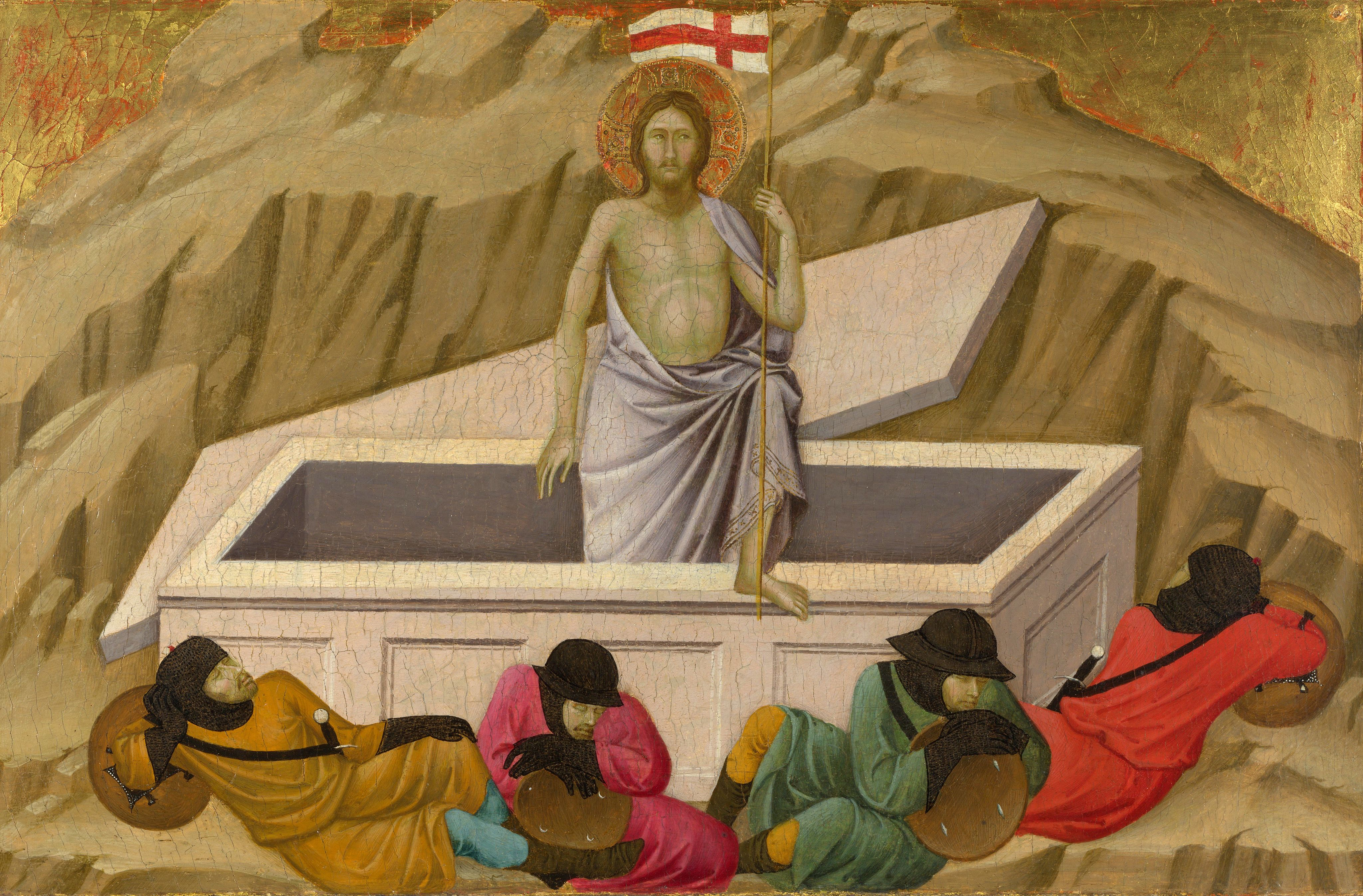 Ugolino di Nerio, The Resurrection, 1324-25, painting, National Gallery, London