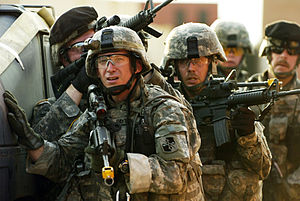 175th Infantry Regiment (United States) - U.S. Army Soldiers from Charlie and Delta Company, 1st Battalion, 175th Infantry Regiment, Maryland Army National Guard training at Fort Dix, N.J. for a scheduled deployment to Iraq.