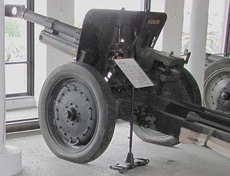 Haubits m/40 - An H 61-37 in Hameenlinna Museum