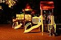1356 Парк «Дубки» ночью, детская площадка в центре.JPG