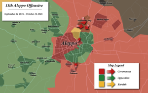 Aleppo offensive (September–October 2016) - Map of the offensive