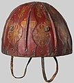15th to 17th century Tibetan Leather Helmet with Auspicious Symbols MET DP124312 (cropped).jpg