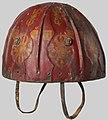 15th to 17th century Tibetan Leather Helmet with Auspicious Symbols MET DP124312 (cropped).jpg