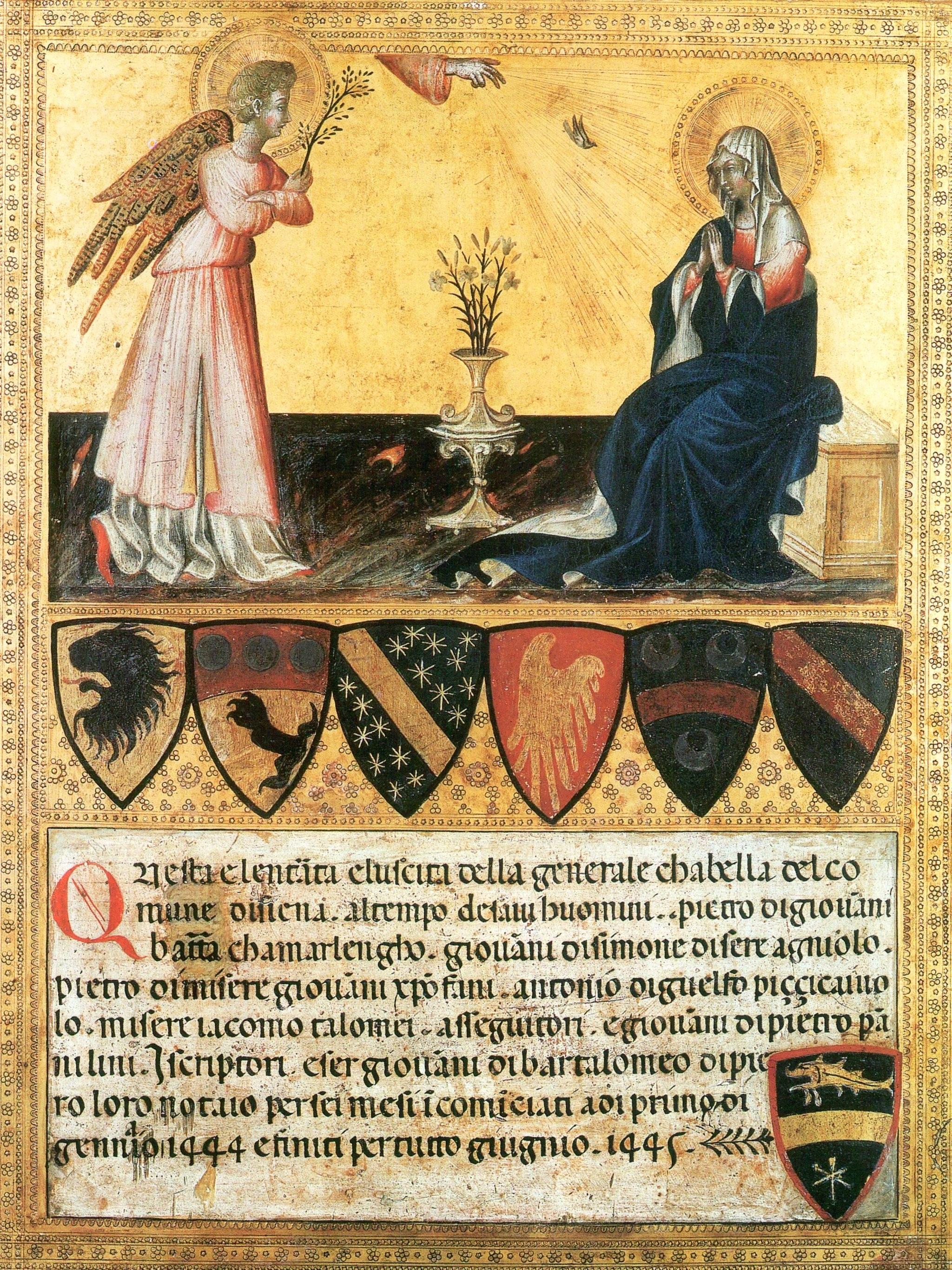 Giovanni di Paolo, Annunciazione, Pinacoteca Vaticano, Roma