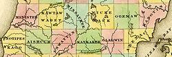 1842 Manistee Kawtawwabet Missaukee Mickenauk Ogemaw Kanotin Notipeskago Aishcum Unwattin Kaykakee Gladwin Arenac counties Michigan.jpg