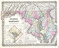 1855 Colton Map of Delaware, Maryland, and District of Columbia - Geographicus - MarylandDelaware-colton-1855.jpg