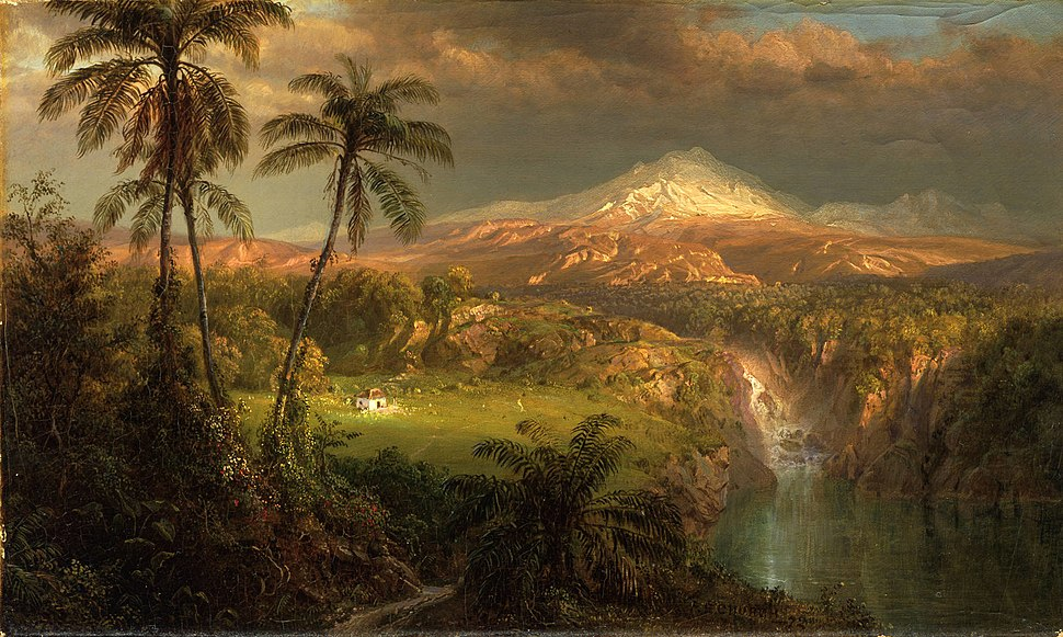 1872, Church, Frederic Edwin, Passing Shower in the Tropics