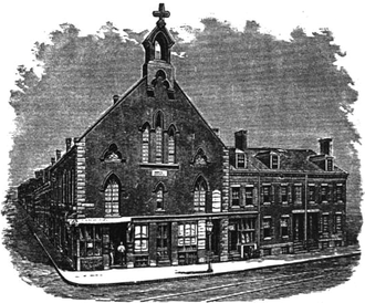 Henry Morgan (minister) - Morgan Chapel, Shawmut Avenue, Boston, ca.1874