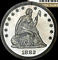 1882 Proof Seated Liberty quarter obverse.jpg