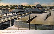 1906 Brockton station postcard