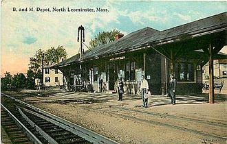 Leominster, Massachusetts - North Leominster train depot in 1915