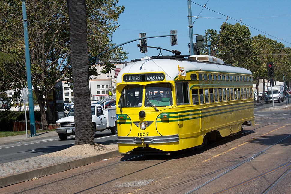 1948 Cincinnati Street Railway Streetcar Running on San Francisco Muni